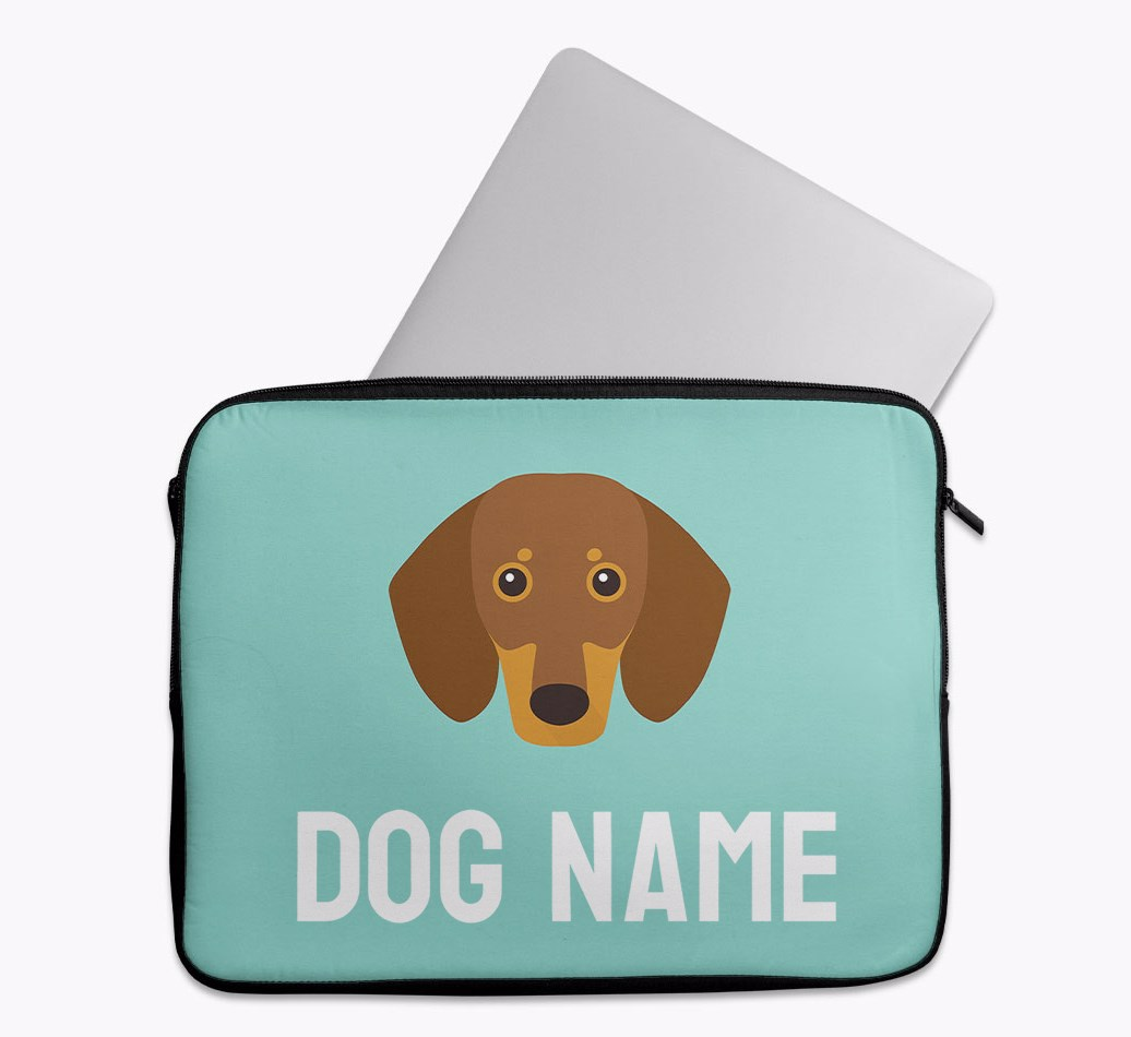 Personalised Tech Pouch Bright & Bold with Dachshund Yappicon