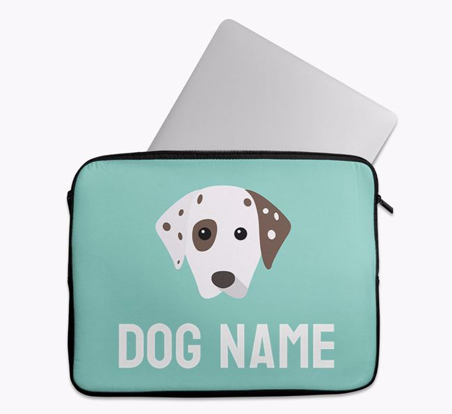 Personalised Bright & Bold Tech Pouch with Dalmatian Icon