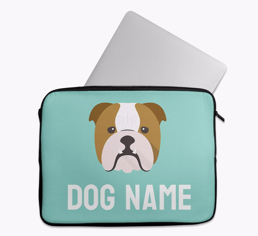 Personalised Tech Pouch Bright & Bold with English Bulldog Yappicon
