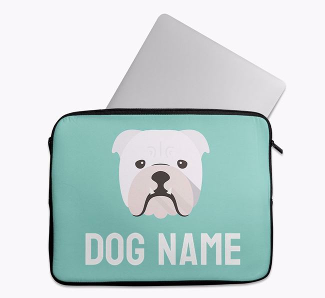 Personalised Bright & Bold Tech Pouch with English Bulldog Icon