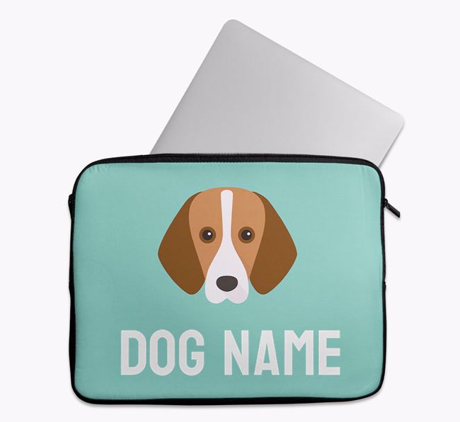 Personalised Bright & Bold Tech Pouch with Foxhound Icon