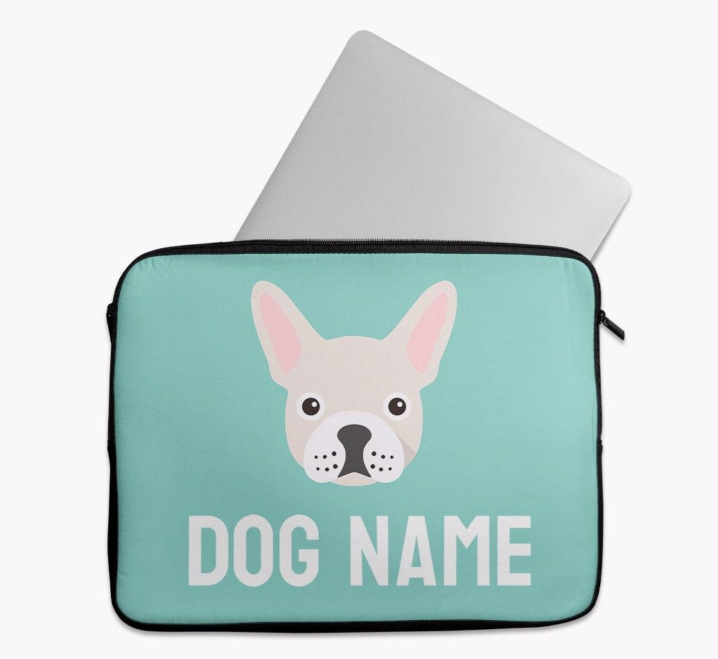 Personalised Tech Pouch Bright & Bold with French Bulldog Yappicon