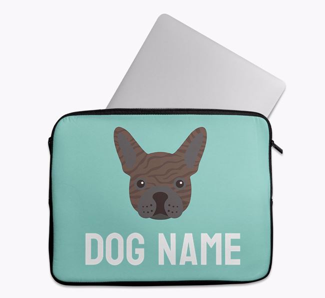 Personalised Bright & Bold Tech Pouch with French Bulldog Icon