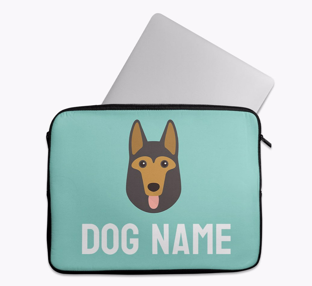 Personalised Tech Pouch Bright & Bold with German Shepherd Yappicon