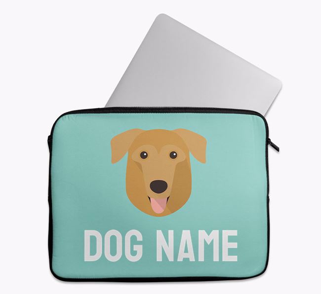 Personalised Bright & Bold Tech Pouch with German Sheprador Icon