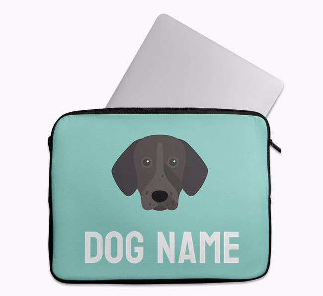 Personalised Bright & Bold Tech Pouch with German Shorthaired Pointer Icon