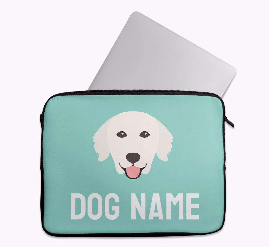Personalised Tech Pouch Bright & Bold with Golden Retriever Yappicon