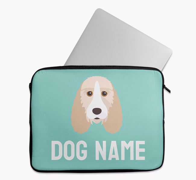 Personalised Bright & Bold Tech Pouch with Grand Basset Griffon Vendeen Icon