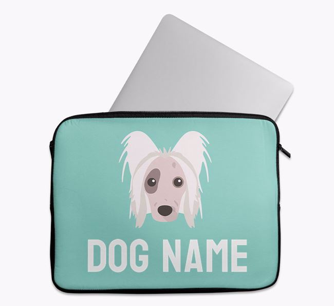 Personalised Bright & Bold Tech Pouch with Hairless Chinese Crested Icon