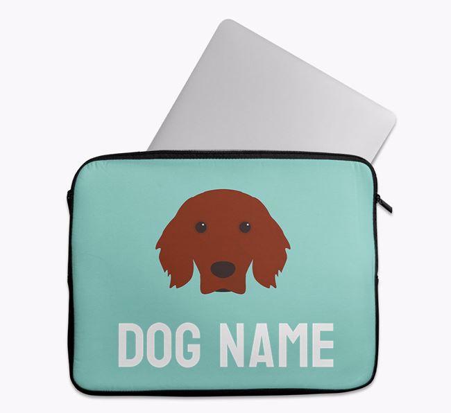 Personalised Bright & Bold Tech Pouch with Irish Setter Icon