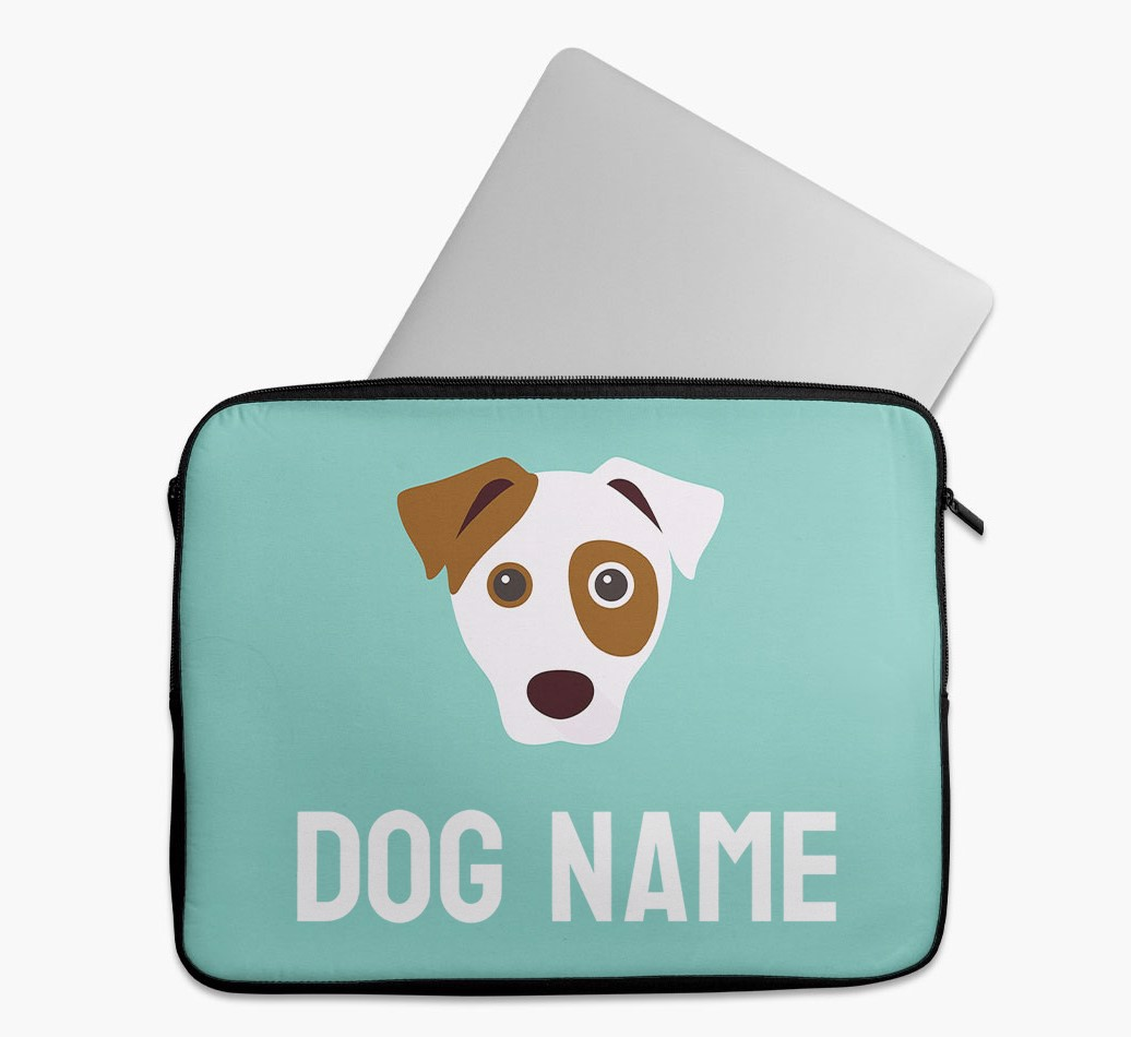 Personalised Tech Pouch Bright & Bold with Dog Yappicon