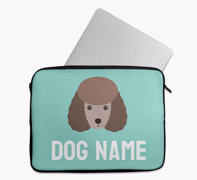 Personalised Bright & Bold Tech Pouch with Miniature Poodle Icon