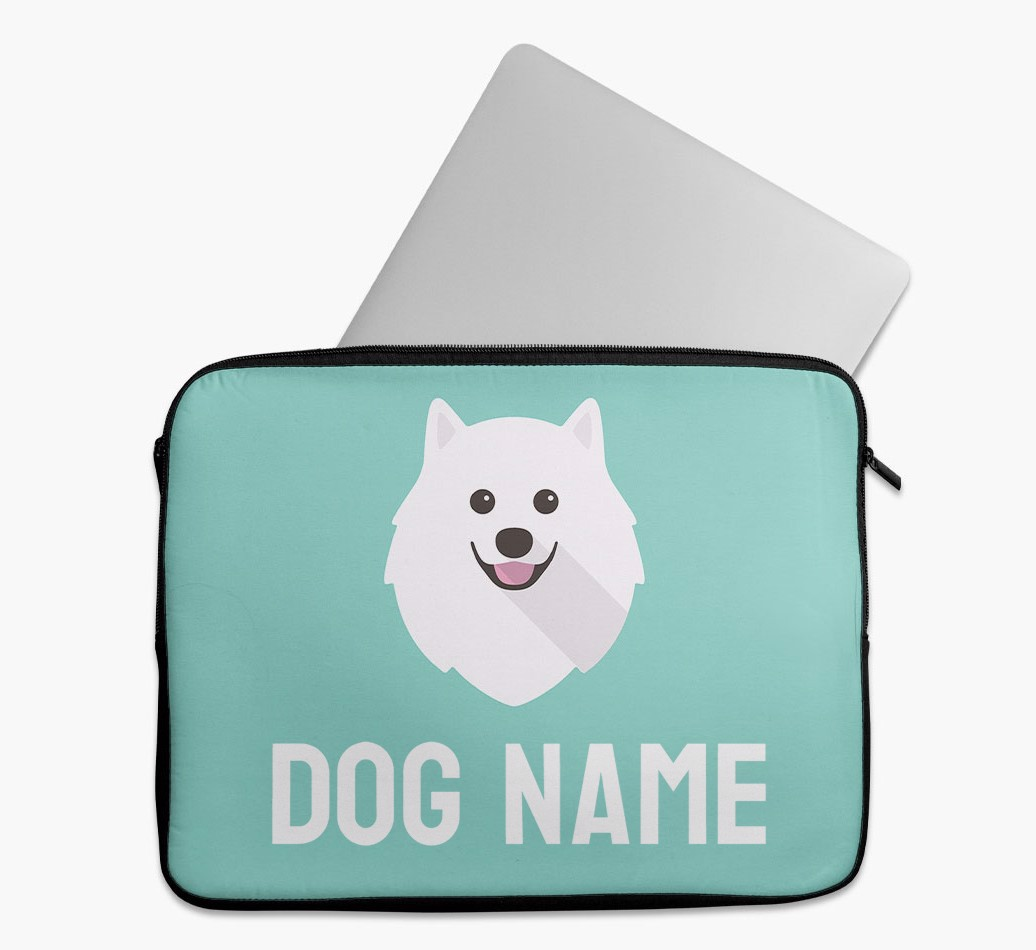Personalised Tech Pouch Bright & Bold with Pomeranian Yappicon
