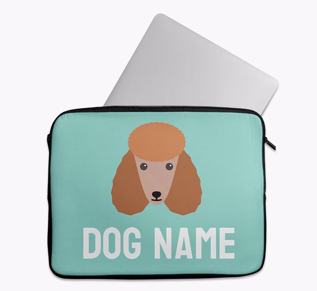 Personalised Bright & Bold Tech Pouch with Poodle Icon