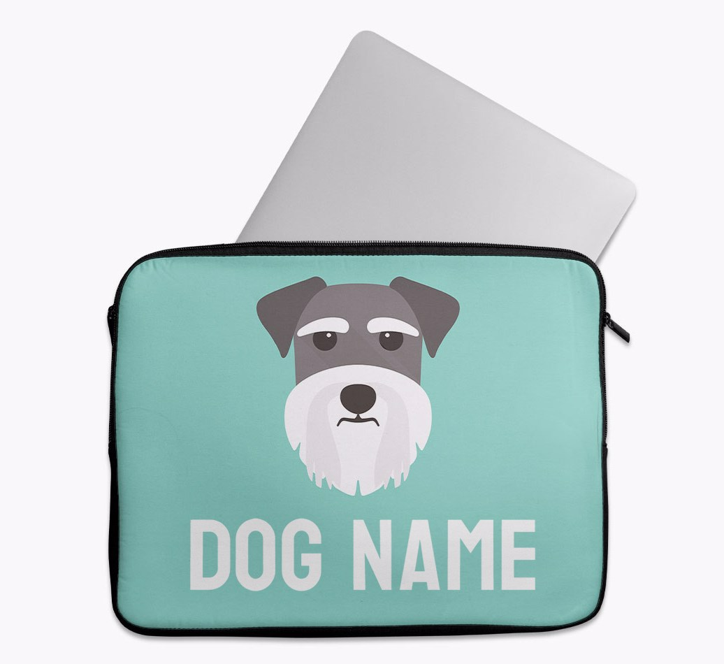 Personalised Tech Pouch Bright & Bold with Schnauzer Yappicon