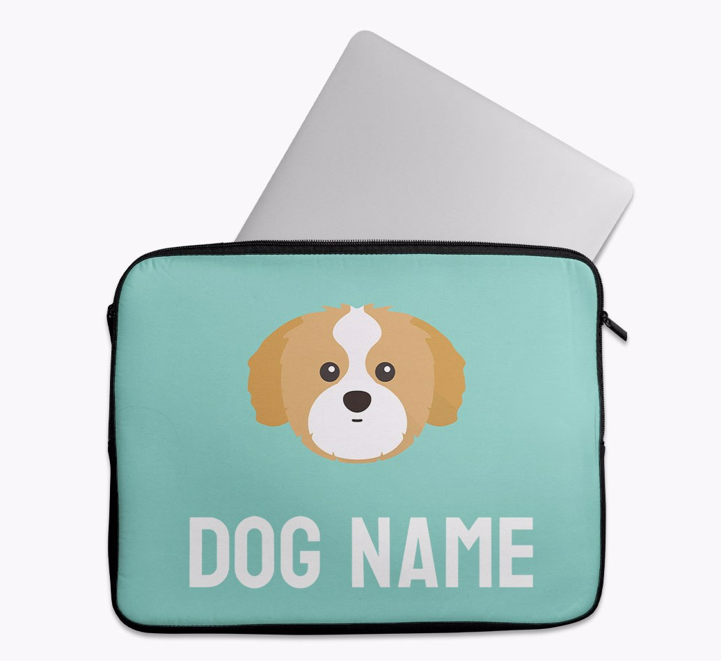 Personalised Tech Pouch Bright & Bold with Shih Tzu Yappicon