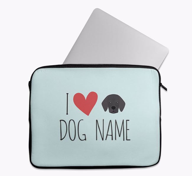 Personalised 'I Heart Your Dog' Tech Pouch with Bassugg Icon