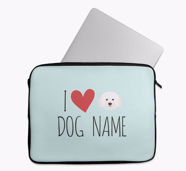Personalised 'I Heart Your Dog' Tech Pouch with Bolognese Icon