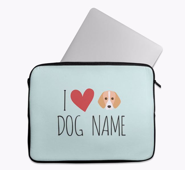 Personalised 'I Heart Your Dog' Tech Pouch with Foxhound Icon