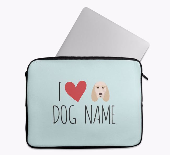 Personalised 'I Heart Your Dog' Tech Pouch with Grand Basset Griffon Vendeen Icon
