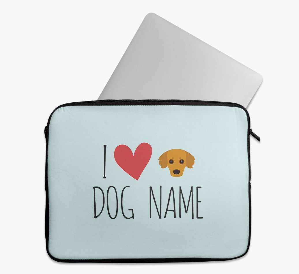 Personalised 'I Heart {dogsName}' Tech Pouch with Kokoni Yappicon