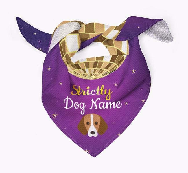 Personalised 'Strictly' Bandana for your Foxhound