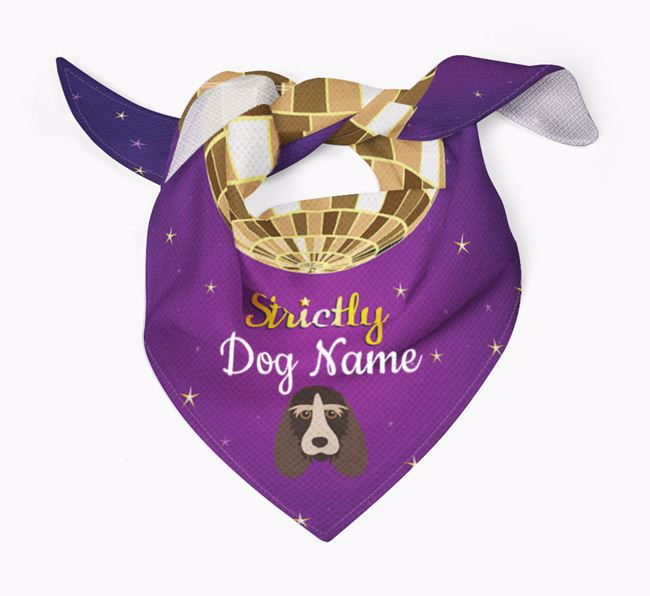 Personalised 'Strictly' Bandana for your Grand Basset Griffon Vendeen