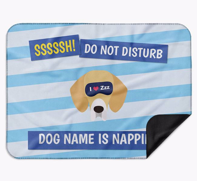 Personalised 'Do Not Disturb' Blanket for your Bassador