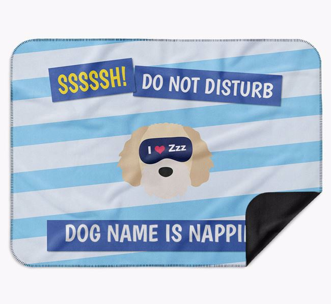 Personalised 'Do Not Disturb' Blanket for your Cavapoochon