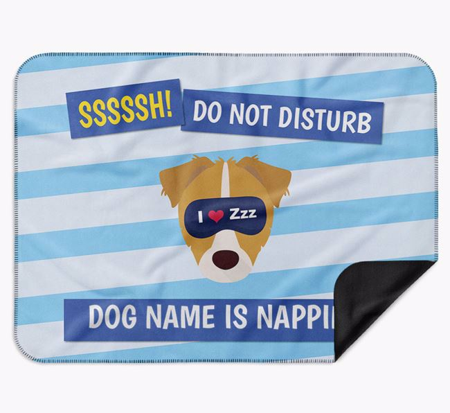 Personalised 'Do Not Disturb' Blanket for your Chipoo