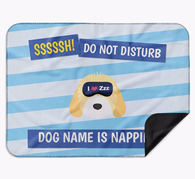 Personalised 'Do Not Disturb' Blanket for your Cockapoo