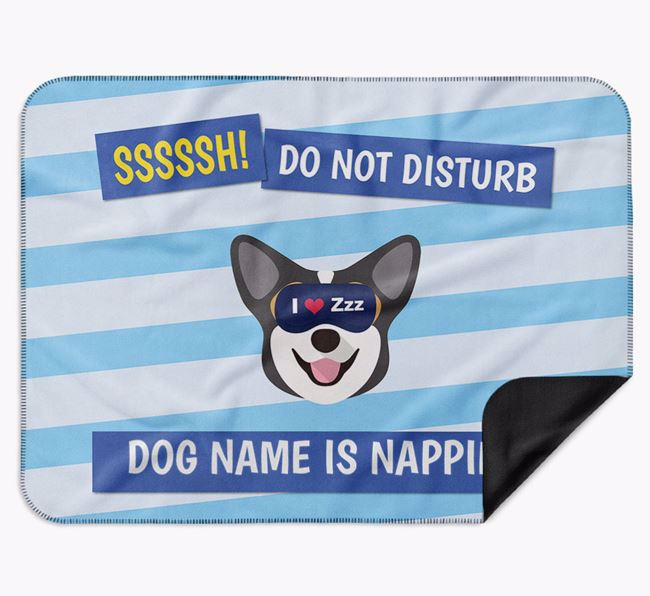Personalised 'Do Not Disturb' Blanket for your Corgi