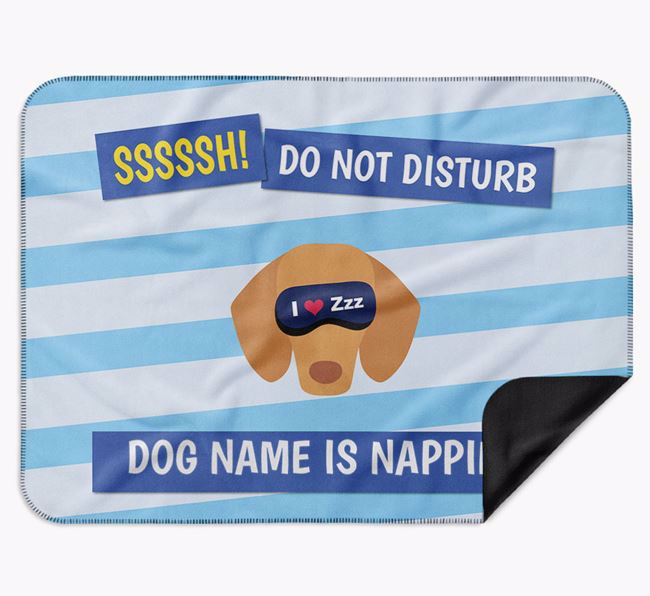 Personalised 'Do Not Disturb' Blanket for your Dachshund