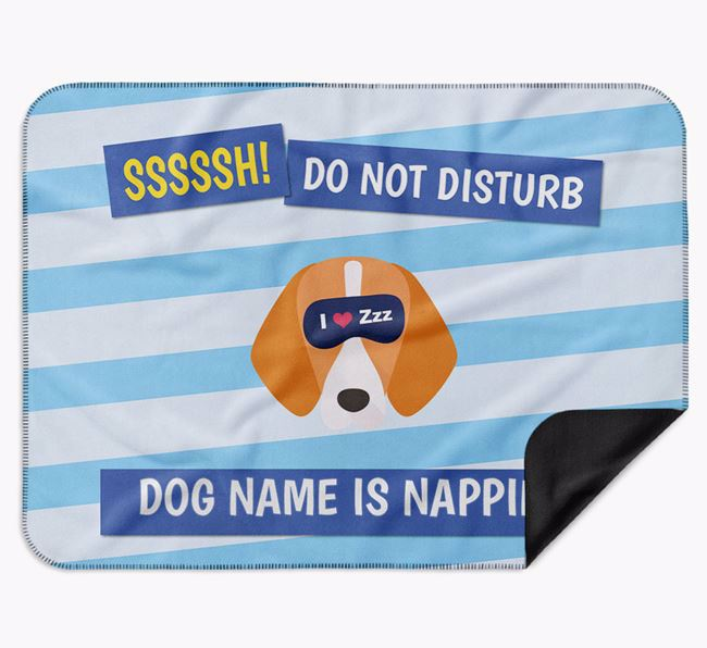 Personalised 'Do Not Disturb' Blanket for your Foxhound
