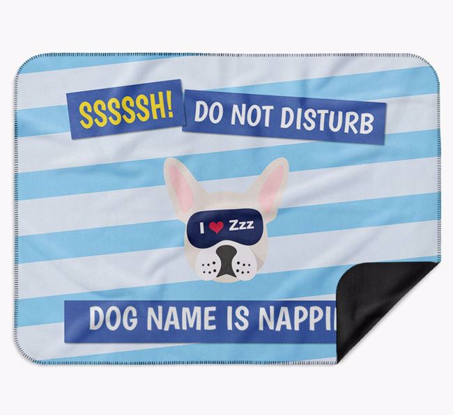 Personalised 'Do Not Disturb' Blanket for your French Bulldog