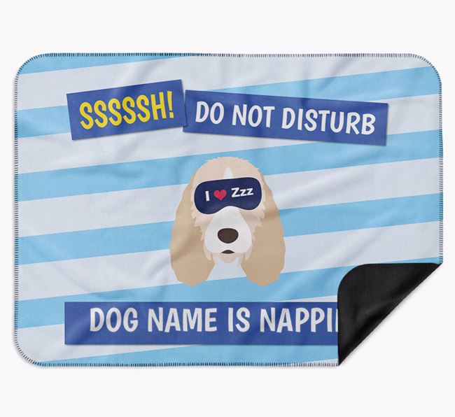 Personalised 'Do Not Disturb' Blanket for your Grand Basset Griffon Vendeen