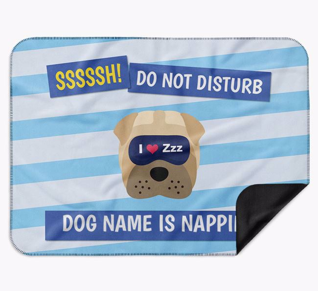 Personalised 'Do Not Disturb' Blanket for your Dog