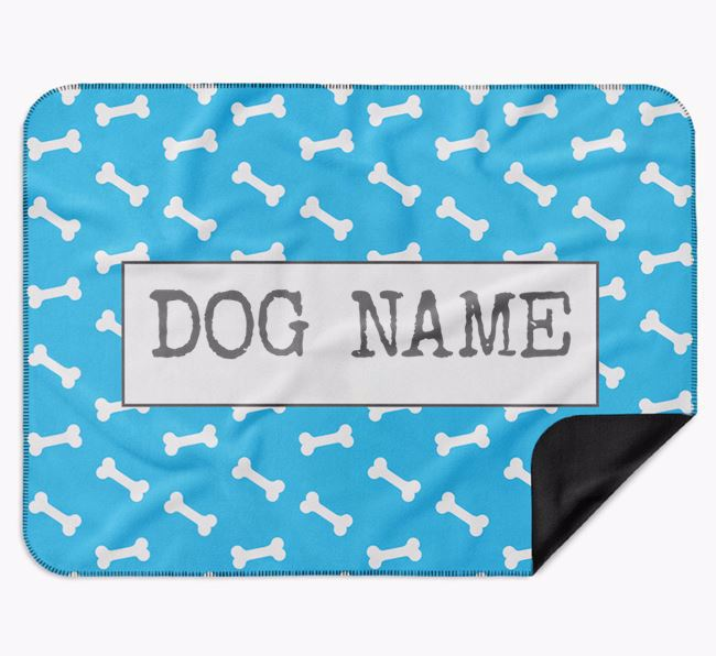 Personalised Bone Print Blanket for your Black and Tan Coonhound