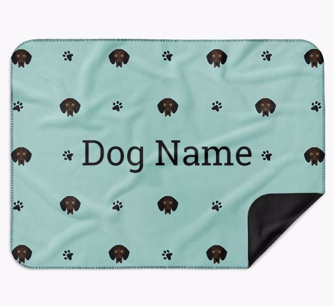 Personalised Blanket with Bassador Icon Print