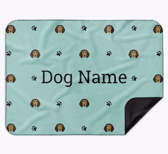 Personalised Blanket with Beagle Icon Print