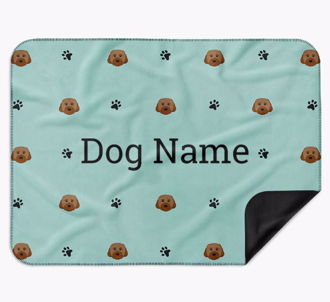 Personalised Blanket with Cavachon Icon Print