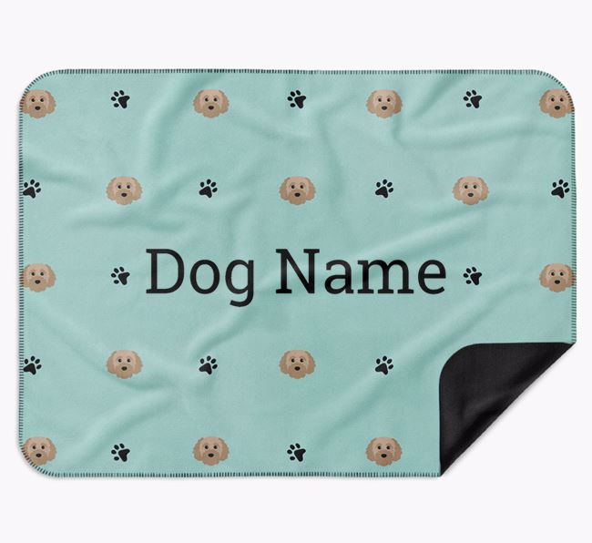 Personalised Blanket with Cavapoochon Icon Print