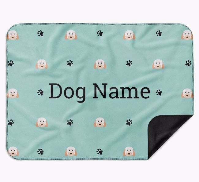 Personalised Blanket with Cockapoo Icon Print