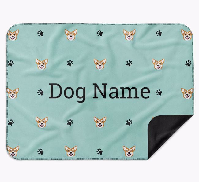 Personalised Blanket with Corgi Icon Print