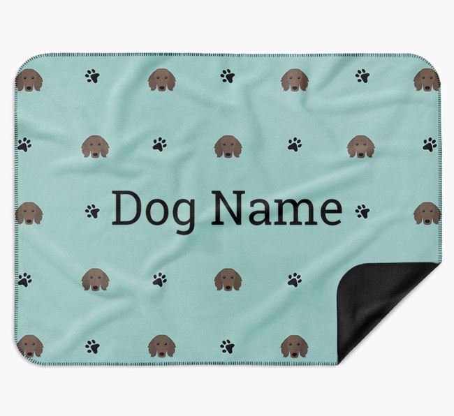 Personalised Blanket with Dachshund Icon Print