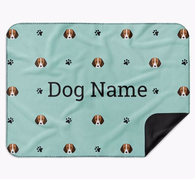 Personalised Blanket with Foxhound Icon Print
