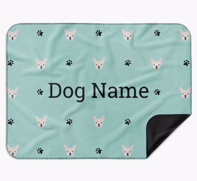 Personalised Blanket with French Bulldog Icon Print