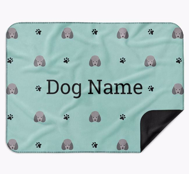 Personalised Blanket with Miniature Poodle Icon Print