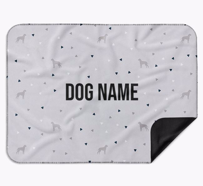 Personalised Triangle Pattern Blanket with Dog Silhouettes