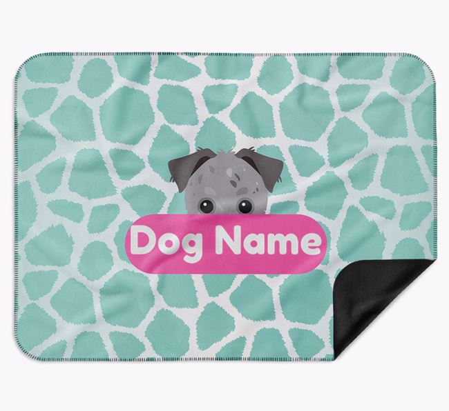 Personalised Giraffe Print Blanket with Chipoo Icon